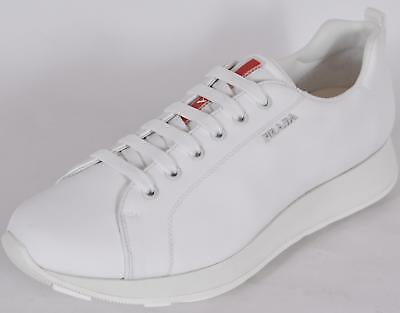 New Prada Mens 43E249 White Nylon Lace Up Low Top Sneakers Shoes 11 IT 12 US