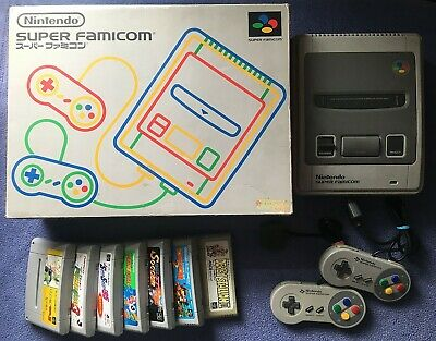Nintendo Super Famicom SFC - Console System Bundle w/ Box, Games - working