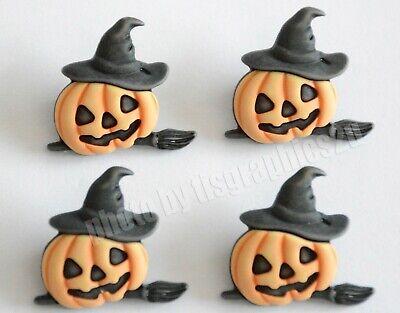 Pumpkin Witch Shank Buttons /  Buttons Galore Halloween / Jack-O-Lantern](Halloween Buttons)