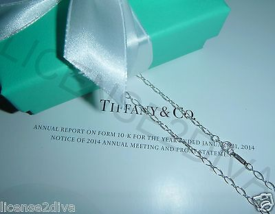 """TIFFANY & CO. T & CO. OVAL LINK PENDANT CHAIN! 24""""! 925-STERLING SILVER! NEW!"""