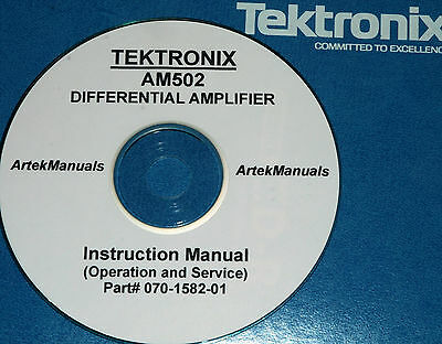 Tektronix Am502 Differential Amplifier Operating Service Manual Schematics