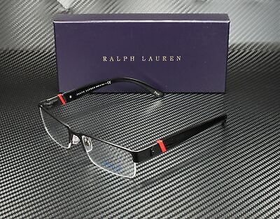 RALPH LAUREN POLO PH1117 9038 Matte Black Demo Lens 54 mm Men's Eyeglasses