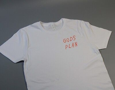 New Drake Gods Plan 6 God Ovo Cardi B Rap Hip Hop Red White T Shirt Tee S M L Xl