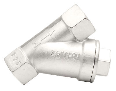 38 Stainless Steel 316 Y-spring Check Valve - 800wog