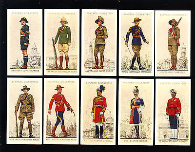 CIGARETTE CARDS. Player. MILITARY UNIFORMS OF THE B.E. (1938). (Full Set of 50).
