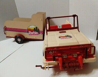1973 Western Barbie Travelin' Trailer Jeep & Horse Trailer w/ FRONT WINCH!!