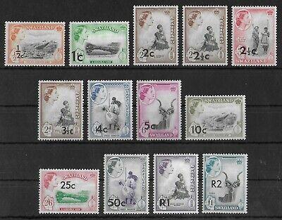 SWAZILAND 1961 Mint LH Complete OVP Set of 13 Stamps SG #65-77 CV £70+ VF