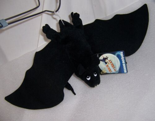 "1997 New Tags 24K Co. BEANIE BOPPERS BAT BORIS 17½"" bean bag plush Halloween"