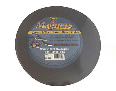 Self Adhesive Roll Flexible Magnetic Strip Tape - 100 Ft X 12 Craft Magnets