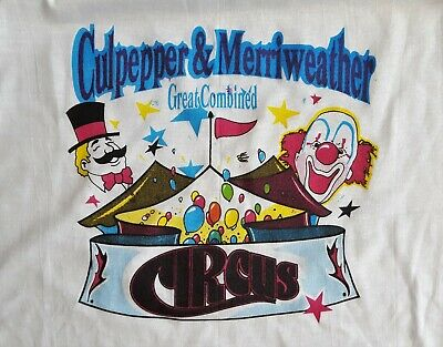 80s Tops, Shirts, T-shirts, Blouse   90s T-shirts Vintage Tee Shirt Circus Culpepper & Merriweather Combined Shows 1980's Mens XL $19.95 AT vintagedancer.com