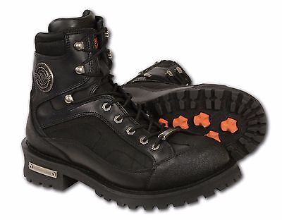 """Mens Black Leather  """"Need Height"""" Lace to Toe Boot, Gear Shift Protection"""