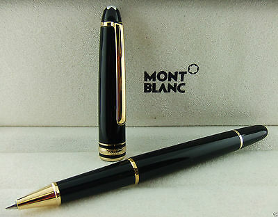 Brand New Montblanc Meisterstück Gold-Coated Classique Rollerball Pen 12890 M163