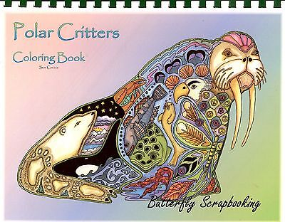 Criters Animal Spirits 15 Pages EARTH ART Sue Coccia New (Aquarell Coloring Book)