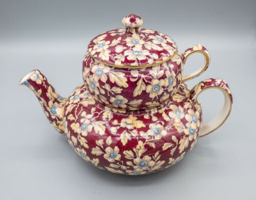 Lord Nelson Royal Brocade Stacking Teapot Sugar Lid AS IS Chintz FREE USA SHIP