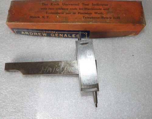 vintage Koch tools universal test indicator used machine shop  metal working