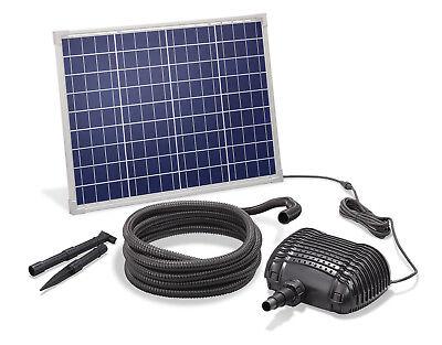 Solar Bachlaufpumpe 50W 2500l/h Solarpumpe Wasserfall Pumpe Teich esotec 101960