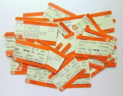 RAILWAYANA - Collection of 50 Used Railway Tickets - British Rail/National Rail
