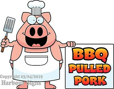 Bbq Pulled Pork Decal Choose Your Size Food Truck Concession Vinyl Sticker