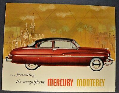 1950 Mercury Monterey Sales Brochure Folder Excellent Original 50 Not a Reprint