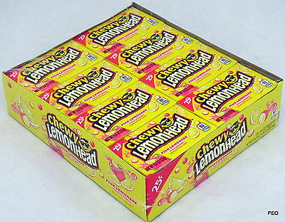 Chewy Lemonheads Pink Lemonade Candy 24 Ct Candies Bulk Ferrara Pan Lemonhead