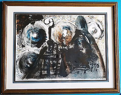 "Vintage Salvador Dali ""Black Mass 1974"" Pencil Signed EA Edition Lithograph"