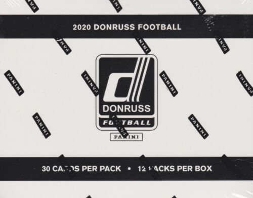 2020 Donruss Football sealed fat pack box 12 packs of 30 NFL cards