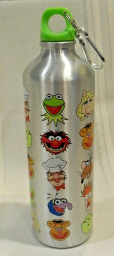 """DISNEY STORE The Muppets Show Aluminum Water Bottle with Carabiner 9.5"""" Height"""