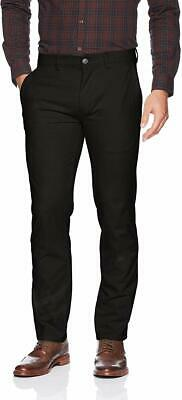 Kenneth Cole Reaction Mens Black Khakis Chinos Stretch Slim Fit Pants -