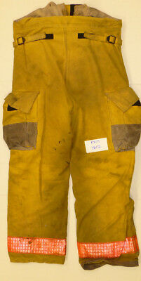 38x32 Pants Firefighter Turnout Bunker Yellow Fire Gear W Liner Globe P809
