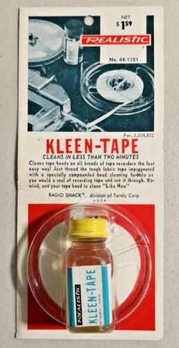 SEALED Vintage Realistic Kleen-Tape #44-1151 for Tape Recorders NOS -- 4075