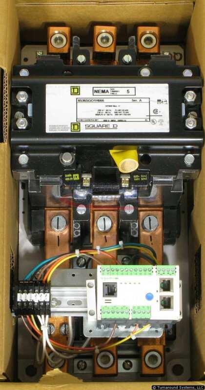 Square D 8536SGO1V07H666 Starter, Size 5, 100-240 VAC Control, Ethernet, NEW!