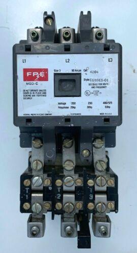 FEDERAL PACIFIC FPE SIZE 3 MOTOR STARTER 4204 CU33ES-01 MOD. C 120V COIL