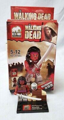 Michonne lego Custom PAD UV PRINTED Minifigure The Walking Dead