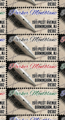 Custom Return Address Stamps - Fountain Pen / Writers - Gummed & Perforated
