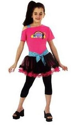 NWT TOTALLY GHOUL 80'S DIVA GIRL'S COSTUME 1980'S MADONNA MATERIAL (Madonna Kostüm Material Girl)