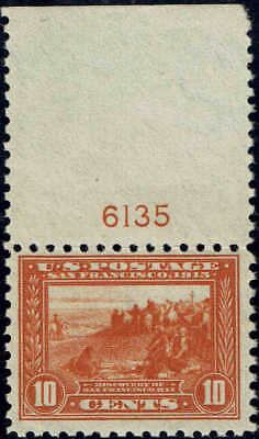 #404 TOP PLATE #6135 1915 10c PANAMA-PACIFIC PERF 10 ISSUE MINT-OG/NH--VF