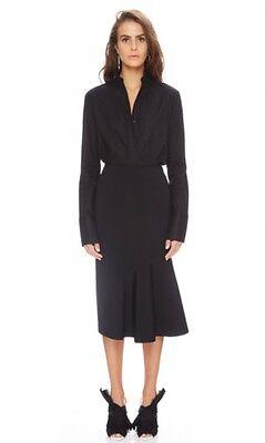 New TY-LR Australian Fashion Label/Brand Elonis Black Midi Skirt Size S
