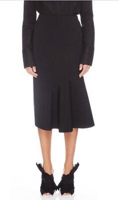 TY-LR Australian Fashion Label/Brand Elonis Black Midi Skirt Size S
