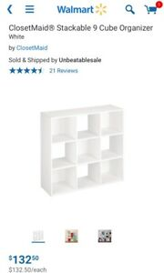$20 CLOSETMAID STACKABLE