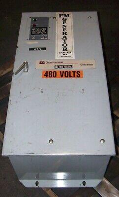 Cutler Hammer 225 Amp Automatic Transfer Switch 480 Vac 3 Pole Atvmkda225xsu