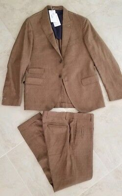 Eleventy Zegna 14 micron fabric  linen wool silk suit size 52. Retail price 2300 for sale  Brooklyn