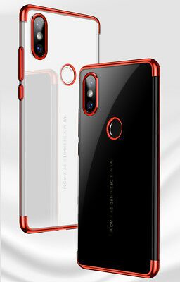 For Xiaomi Mix 3 Max 3 Mi A2 8 Lite F1 Plated Clear Soft Silicone TPU Case Cover