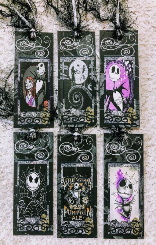 (6) Nightmare Before Christmas~Handmade Bookmarks~Tags~Not Laminated~544BM