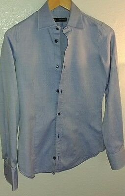 Dsquared dress Casual Blue & White Button Down Shirt Size 42