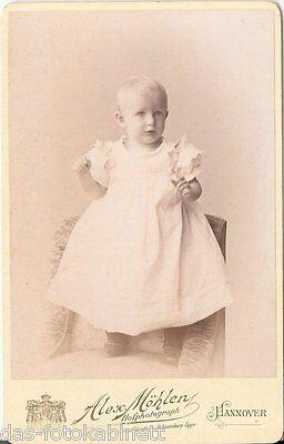 CDV photo Niedliches kleines Kind - Hannover 1898