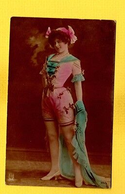 Airbrushed Clothing - Steiglitz 1904 French Female Model in night clothes, airbrushed color Oranotypie