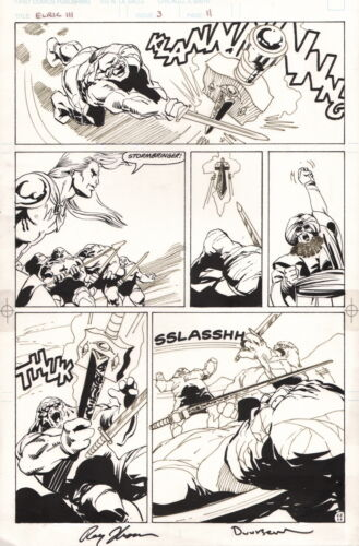 SIGNED Roy Thomas Jan Duursema Elric Original Comic Art Page / Michael Moorecock