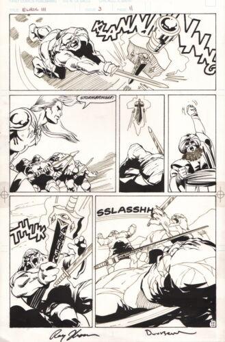 SIGNED Roy Thomas Jan Duursema Elric Original Comic Art Page / Michael Moorecock