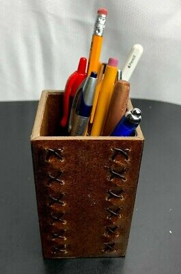 New Recycled Leather-covered Pencil Boxcup
