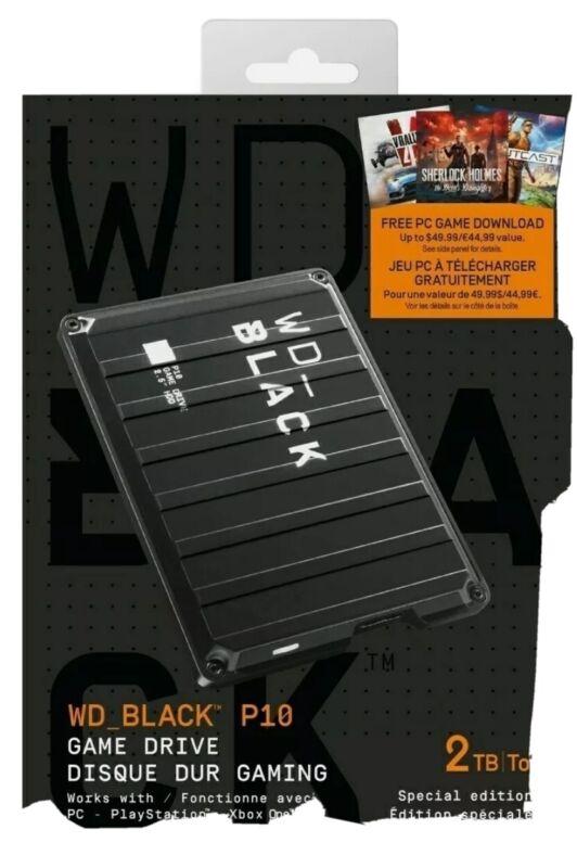 Western Digital WD_BLACK P10 Game Drive 2TB Portable External Hard Drive HDD